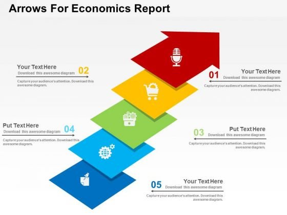 Arrows For Economics Report PowerPoint Template