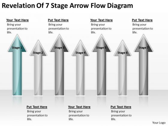 Arrows For Ppt Of 7 Stage Flow Diagram 1 PowerPoint Templates Backgrounds Slides