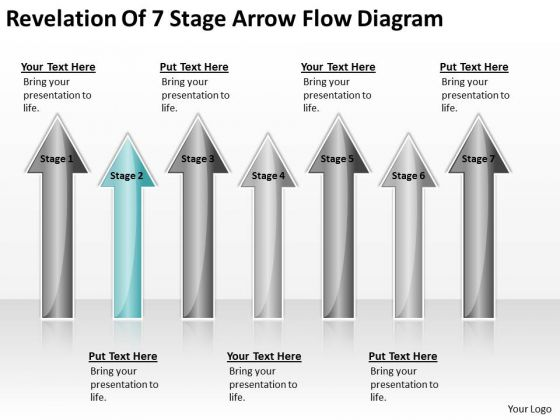 Arrows For Ppt Of 7 Stage Flow Diagram 2 PowerPoint Templates Backgrounds Slides
