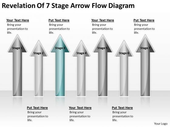 Arrows For Ppt Of 7 Stage Flow Diagram 3 PowerPoint Templates Backgrounds Slides