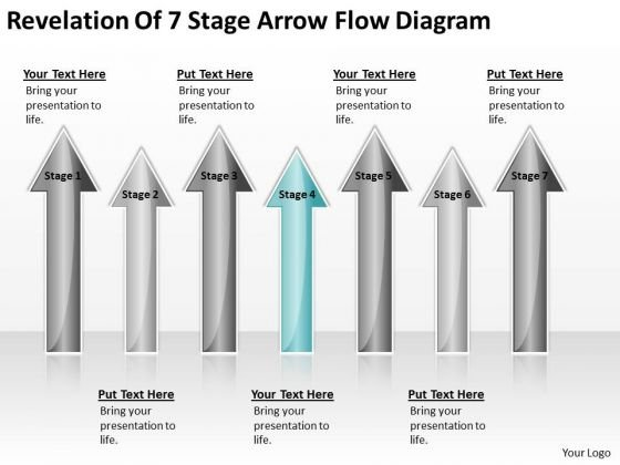 Arrows For Ppt Of 7 Stage Flow Diagram 4 PowerPoint Templates Backgrounds Slides