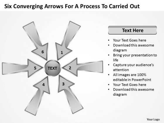 Arrows For Process To Carried Out Circular Flow Layout Chart PowerPoint Templates