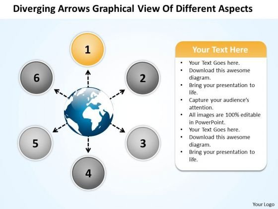 Arrows Graphical View Of Different Aspects Circular Circular Network PowerPoint Templates
