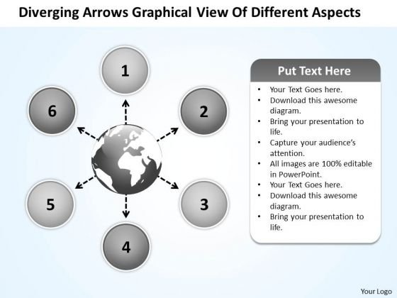 Arrows Graphical View Of Different Aspects Circular Network PowerPoint Templates