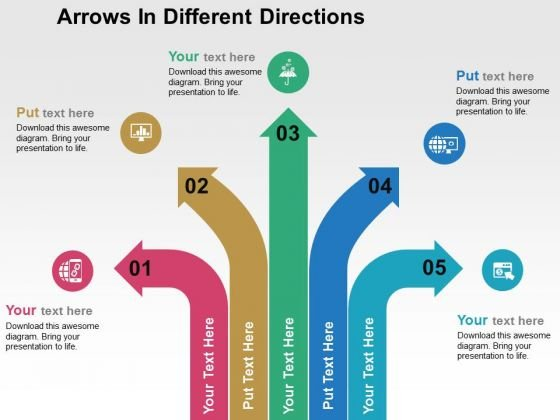 Arrows In Different Directions PowerPoint Template