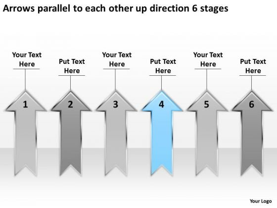 Arrows Parallel To Each Other Up Direction 6 Stages Business Case Template PowerPoint Slides