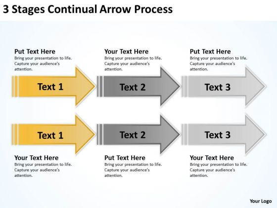 Arrows Stages Continual Process PowerPoint Templates