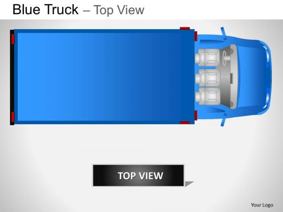 Art Blue Truck Top View PowerPoint Slides And Ppt Diagram Templates