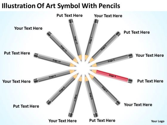 Art Symbol With Pencils Ppt Catering Business Plan Template – Catering Business Plan