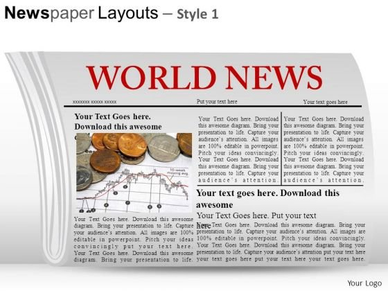 Article Newspaper Layouts 1 PowerPoint Slides And Ppt Diagram Templates