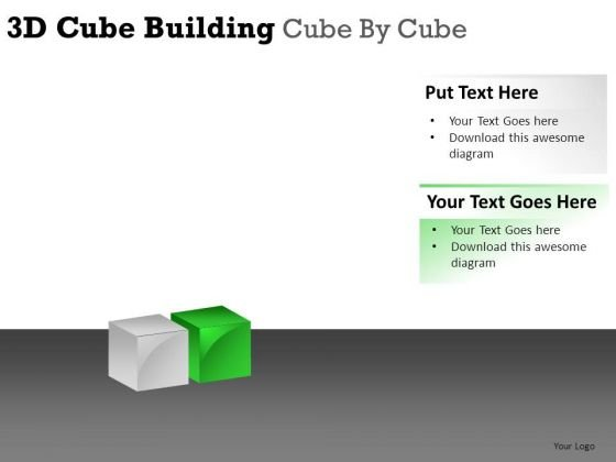 Aspirations 3d Cube Building PowerPoint Slides And Ppt Diagram Templates