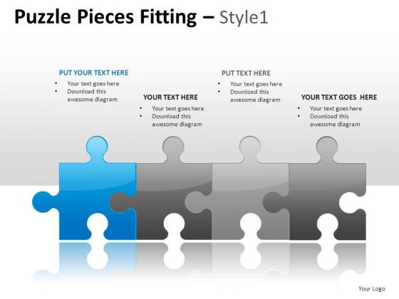 Assemble Puzzle Pieces Fitting 1 PowerPoint Slides And Ppt Diagram Templates