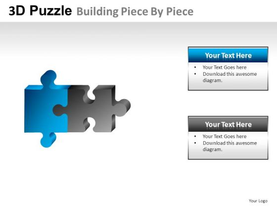 Assembling 3d Puzzle Buidling Piece PowerPoint Slides And Ppt Diagram Templates