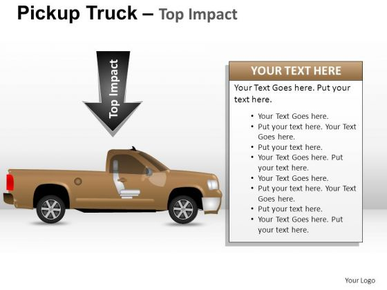 Assist Pickup Brown Truck Side View PowerPoint Slides And Ppt Diagram Templates