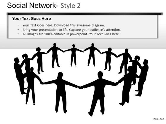 Association Social Network 2 PowerPoint Slides And Ppt Diagram Templates