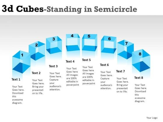 attention_3d_cube_standing_in_semicircle_powerpoint_slides_and_ppt_diagram_templates_1