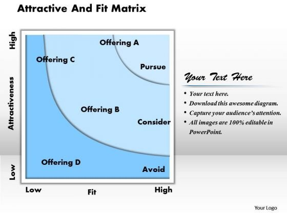 Attractive And Fit Matrix Business PowerPoint Presentation