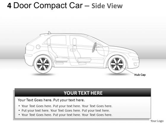 Auto 4 Door Blue Car Side View PowerPoint Slides And Ppt Diagram Templates
