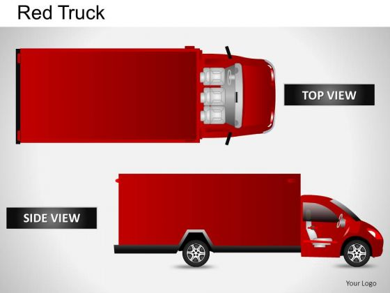 Auto Red Truck PowerPoint Slides And Ppt Diagram Templates