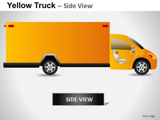 Auto Yellow Truck PowerPoint Slides And Ppt Diagram Templates
