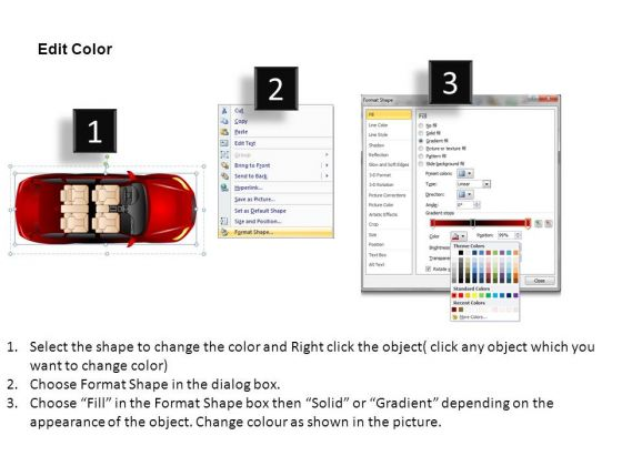 automobile_4_door_red_car_top_view_powerpoint_slides_and_ppt_diagrams_templates_3