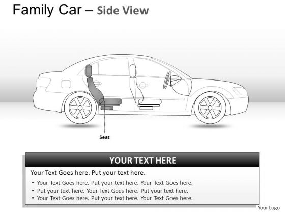 Autoshow Blue Family Car Side View PowerPoint Slides And Ppt Diagram Templates