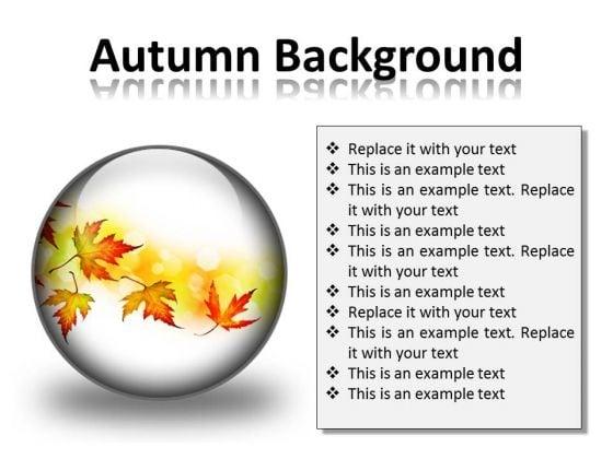 Autumn Background PowerPoint Presentation Slides C