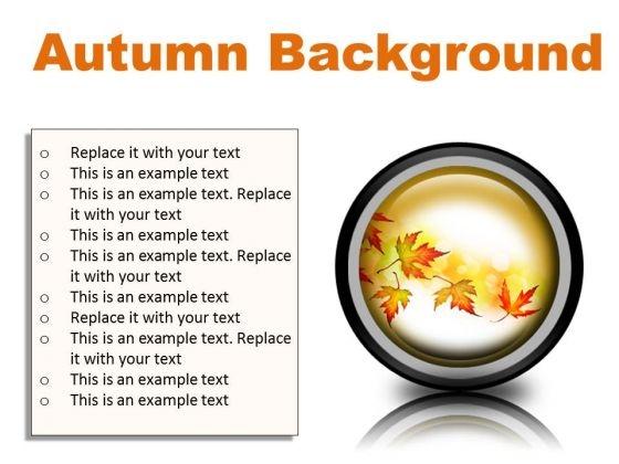 Autumn Background PowerPoint Presentation Slides Cc