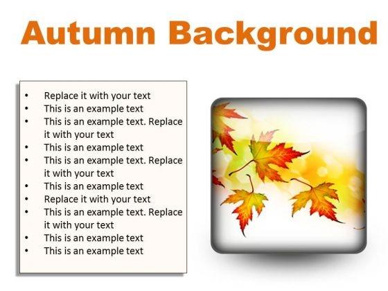 Autumn Background PowerPoint Presentation Slides S