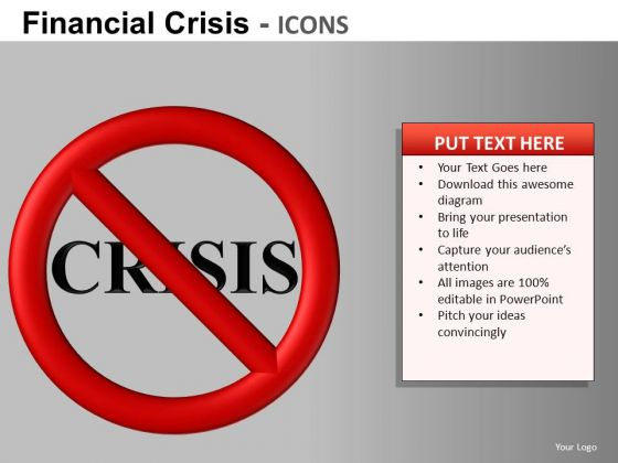 Avert Financial Crisis PowerPoint Ppt Templates