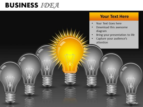 Awesome Business Idea PowerPoint Ppt Slides