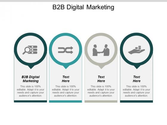 B2B Digital Marketing Ppt PowerPoint Presentation Styles Outline Cpb