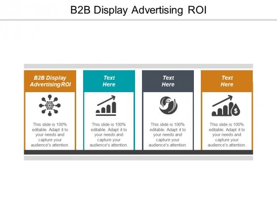 B2B Display Advertising ROI Ppt PowerPoint Presentation Model Icons Cpb