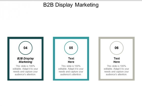 B2B Display Marketing Ppt PowerPoint Presentation Styles Ideas Cpb