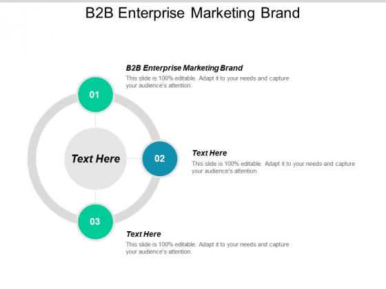B2B Enterprise Marketing Brand Ppt PowerPoint Presentation Show Ideas Cpb