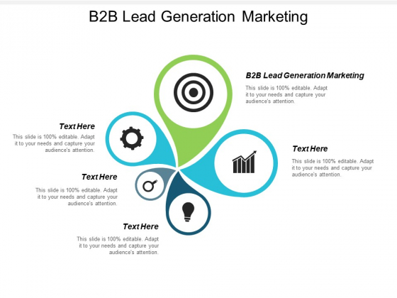 B2B Lead Generation Marketing Ppt PowerPoint Presentation Portfolio Information Cpb