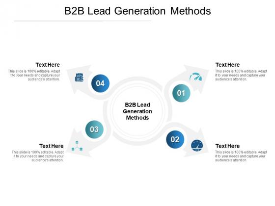 B2B Lead Generation Methods Ppt PowerPoint Presentation Model Objects Cpb Pdf