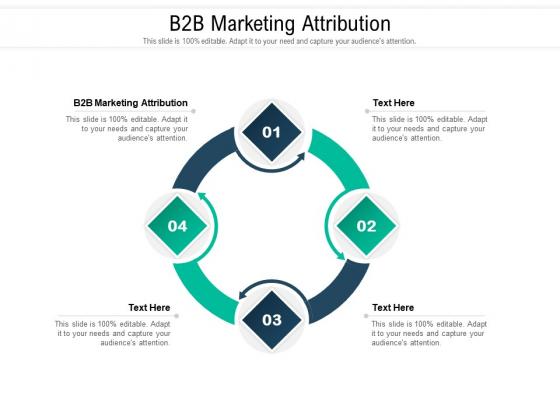 B2B Marketing Attribution Ppt PowerPoint Presentation Ideas Example File Cpb Pdf