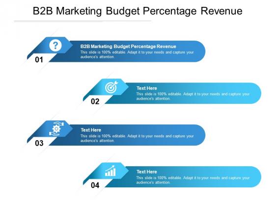 B2B Marketing Budget Percentage Revenue Ppt PowerPoint Presentation Professional Portrait Cpb Pdf