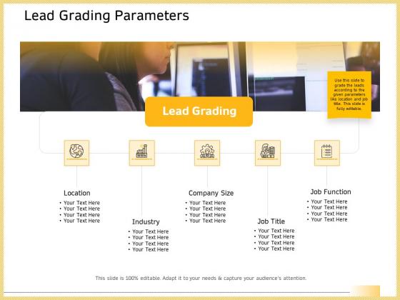 B2B Marketing Lead Grading Parameters Ppt Gallery Ideas PDF
