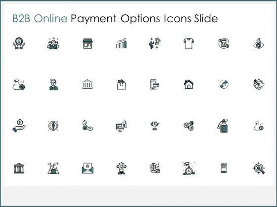 B2B Online Payment Options Icon Slide Technology Ppt PowerPoint Presentation Styles Graphics Template