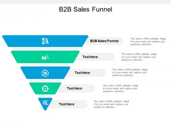 B2B Sales Funnel Ppt PowerPoint Presentation Infographic Template Structure Cpb