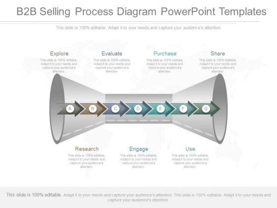 B2B Selling Process Diagram Powerpoint Templates