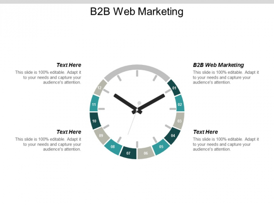 B2B Web Marketing Ppt PowerPoint Presentation Icon Guide Cpb