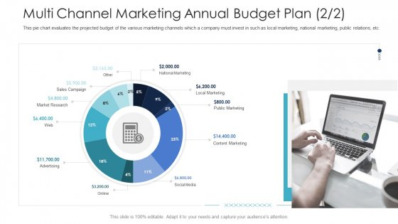 B2C Marketing Initiatives Strategies For Business Multi Channel Marketing Annual Budget Plan Social Media Ppt Layouts Background PDF