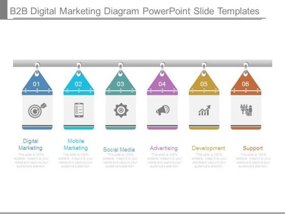 B2b Digital Marketing Diagram Powerpoint Slide Templates
