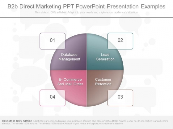 B2b Direct Marketing Ppt Powerpoint Presentation Examples