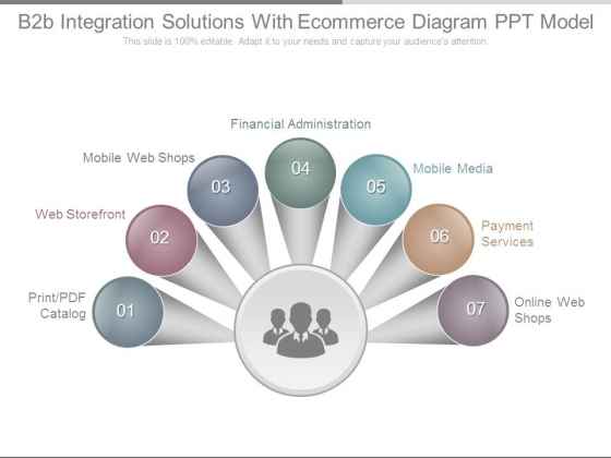 B2b Integration Solutions With Ecommerce Diagram Ppt Model
