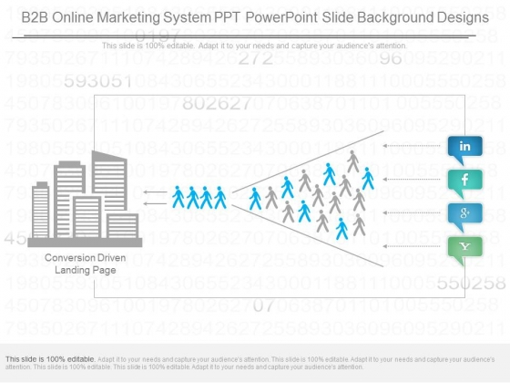 B2b Online Marketing System Ppt Powerpoint Slide Background Designs