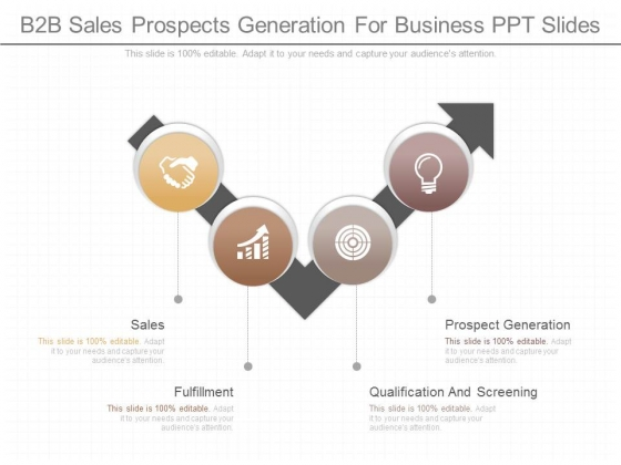 B2b Sales Prospects Generation For Business Ppt Slides